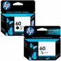 Cartuchos Hp 60 Negro + 60 Color - Combo 2 Tintas Originales