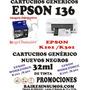 Cartuchos Ep 136 Workce K101 K301 Alter Negro 32 Ml Unidad