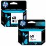 Combo Pack Hp Cartucho 60 Negro Cc640wl + 60 Color Cc643wl
