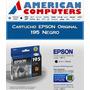 Cartuchos Epson T195 Original Negro Xp211 Xp201 Caja Cerrada