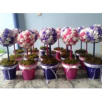 Centros De Mesa, De Flores En Porcelana Fria