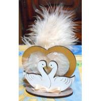 Cisnes Con Corazon Fibrofacil Decorado (boda,aniversarios)
