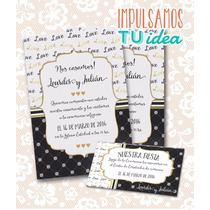 Invitación De Boda Para Imprimir - Tarjeta Y Personal L Y J
