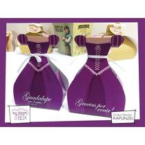 Souvenir Personalizado Evento Cumple Caja Princesas Rapunzel