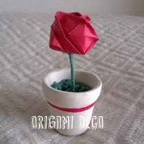 Souvenir Boda. Rosita De Papel Origami,con Maceta! Original!