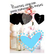 Numeros De Mesas Boda / Casamiento. Pizarra Corazon