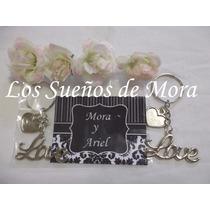 Souvenirs Love Llavero Casamiento Bodas Enlace Aniversario