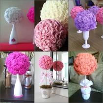 Toparios De Flores De Papel Crepe X 10 Unidades