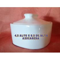 Azucarera En Ceramica Blanca