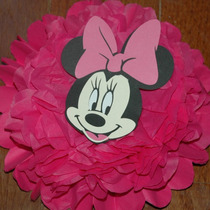 Kit De 1 Pompones De Mickey O Minnie, De 35 Cm