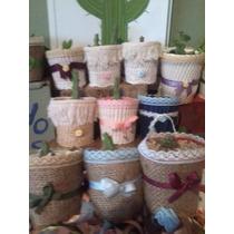 Souvenirs Cactus Y Suculentas Hermosos Y Delicados !!!!!!!