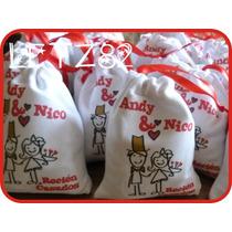 Bolsitas Estampadas + Chocolates De Regalo, Para Casamiento