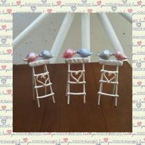 Souvenir Casamiento Pajaritos Vintage En Porcelana Fría