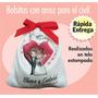10 Bolsitas C/arroz Impresas Para Casamiento Civil