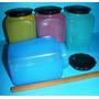 4 Tarros Soplado Color Restaurante Casa Cocina Bazar Retro