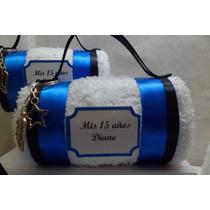 Pack X 5 Souvenirs Toalla Originales Personalizados 15 Años