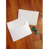 Sobres Invitaciones Blancos Boda 16,x11,5 90 Grs 100 Un