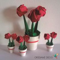 Pack 50 Souvenirs Y 8 Centros De Mesa! Boda *origami Deco*