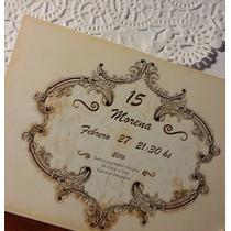 Invitaciones Tarjetas Boda Quince Años Casamiento Con Sobre
