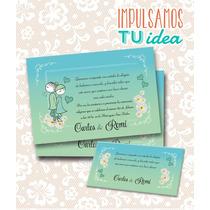 Tarjeta De Boda Para Imprimir - Invitación Y Personal Cyr