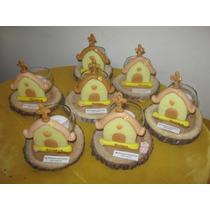 20 Souvenirs Comunion Portavela En Porcelana Fria