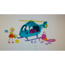 Mattel Polly Pocket Vacaciones En Helicoptero Con Accesorios
