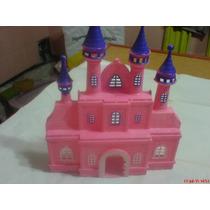 Castillo-disney-plastico-solo Una De Las Dos Caras-color Ros