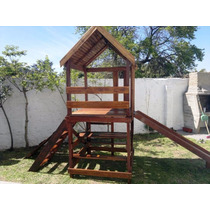 Oferta-tobogan.trepador.madera Reforzados. Mangrullos