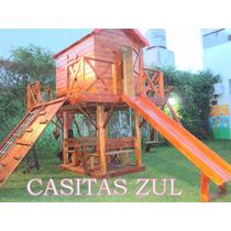 Casita Infantil De Madera Maderera Zul !!!!!