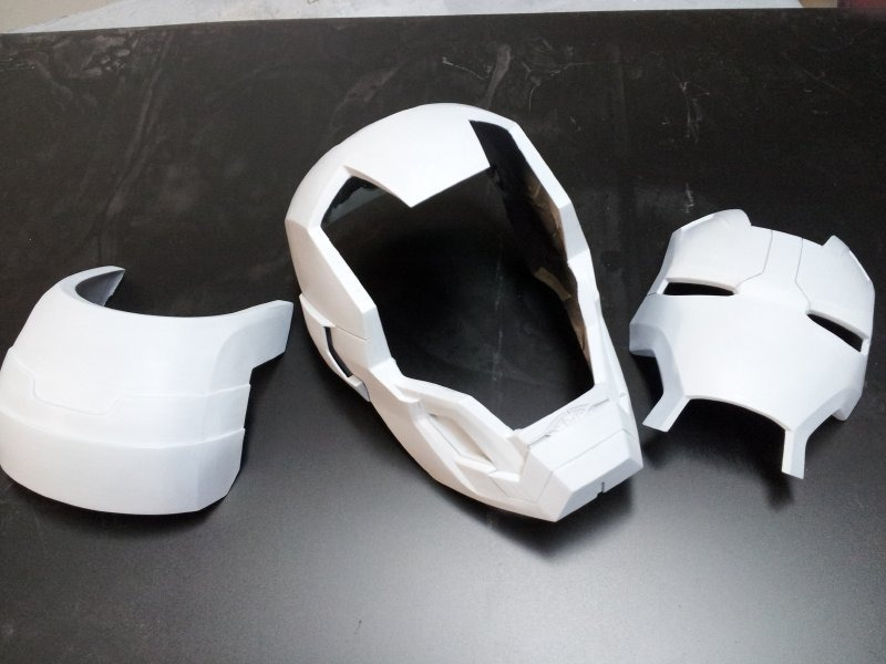 Casco War Machine Pepakura, Iron Man Maquina De Guerra - $ 40,00 ...
