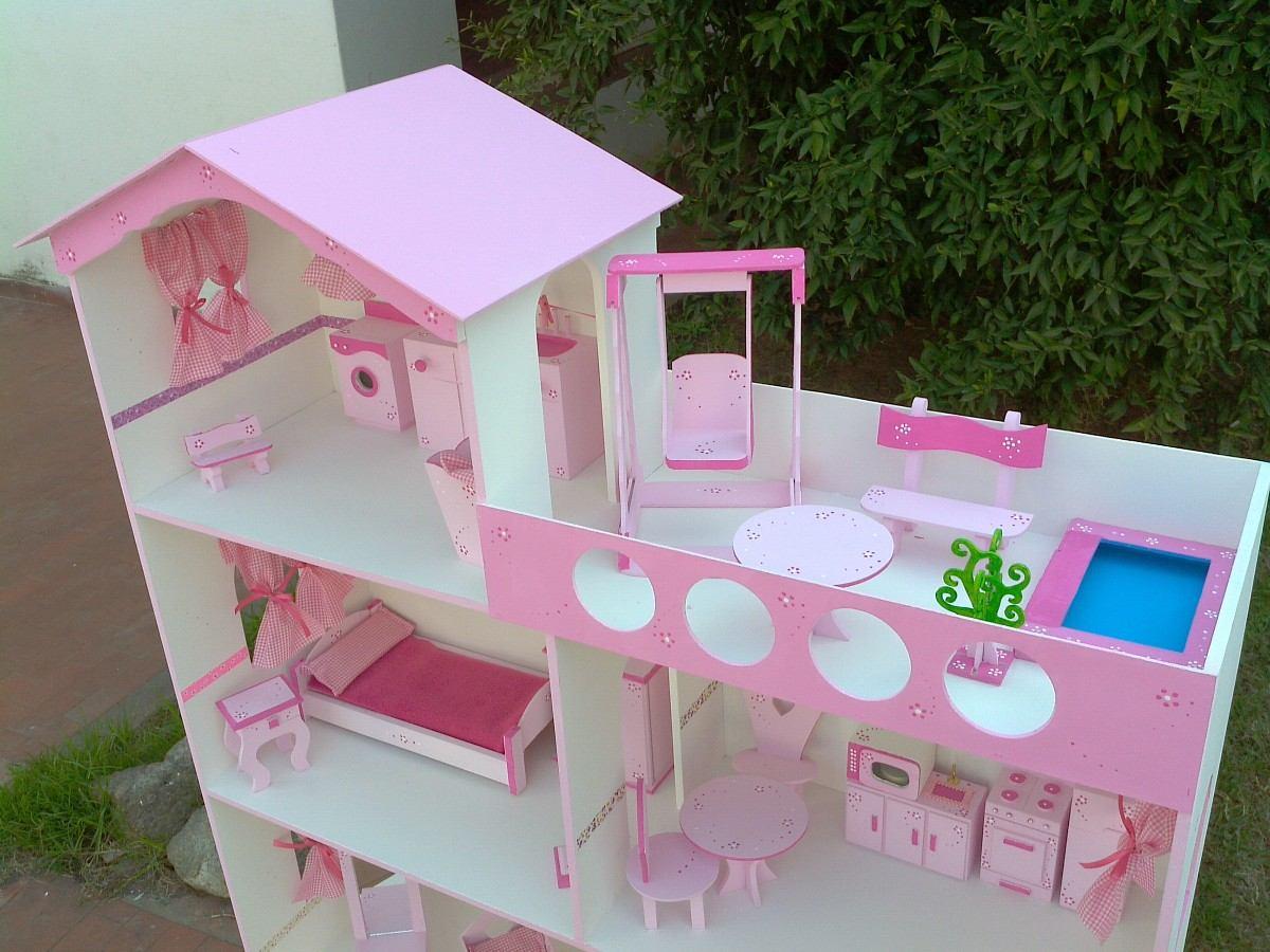 Casita Barbie Xxl 1,40 M!c/terraza,piscina,lavadero Y Luz ...