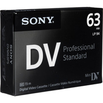 Tape Minidv Sony Professional Standart Dvm63ps - Nuevo Model