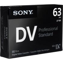 Tape Minidv Sony Professional Standard Dvm63ps Mini Dv