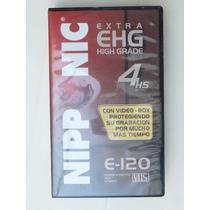 Videocassette Nipp Nic E-120 Vhs 4hs Lp/pal