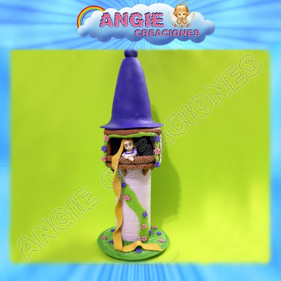 Castillo Con Rapunzel Torre Tangled Enredados Porcelana Fria ...