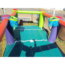 Castillo Inflable Canchita De Futbol Basket 3x7 Pisoinflable