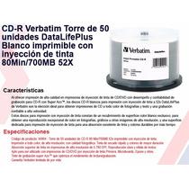 Cd Verbatim Imprimibles X 50 - ( Hacemos Mercadoenvios )