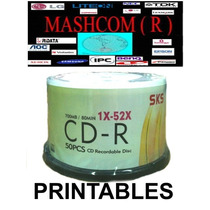 Cd -r Sks Imprimible 52x 700mb 80min X 50 Unidades