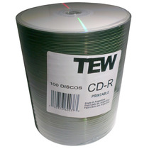 Cd Printable Inkjet Full Print Tew Bulk X100u 700mb 80 Min