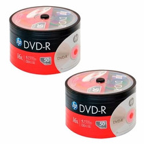 Dvd-r Virgen Estampado 16x 4.7gb Bulk X50 Hp Original