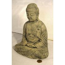 Estatuilla Buda En Cemento, 30cm De Altura