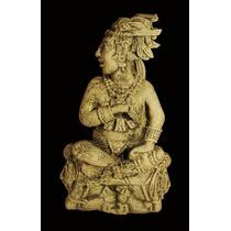 Estatuilla Maya En Cemento, Figura De Palenque