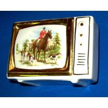 Cenicero Porcelana Y Oro Años 50 Tv- Caballo-la Plata