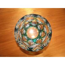 Cenicero De Cristal Tallado Verde Esmeralda
