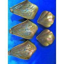 El Arcon Lote 5 Ceniceros Hojas De Flor De Lis Bronce 11531