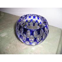 949- Cenicero Cristal Checoslovaco Azul
