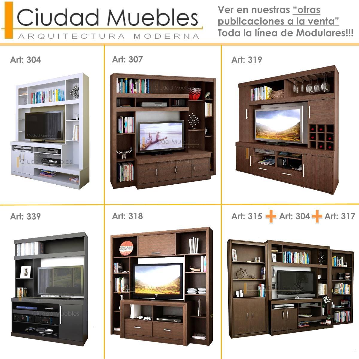 Centro entretenimiento muebles para modulares sala estar for Muebles de sala