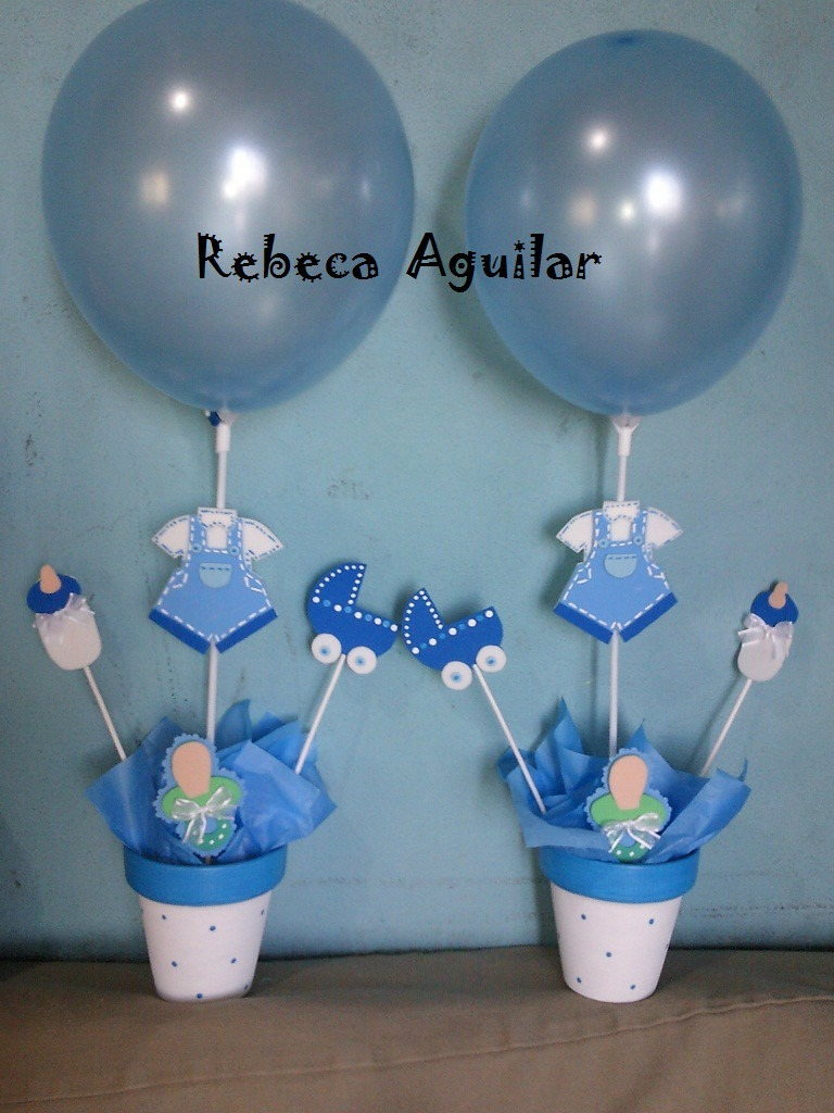 ideas de centros de mesa para baby shower