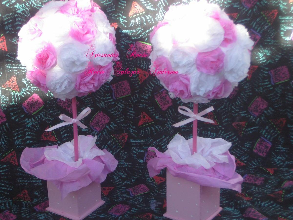 Centros de mesa topiarios flores papel seda mla f - Centros d mesa ...