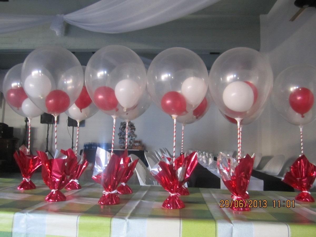 Fotos de centros de mesa para 15 a os con globos imagui - Centros de mesa con globos ...
